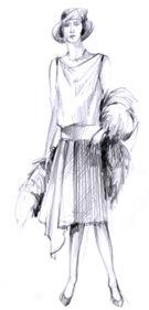 Obr 2: Móda období Art-déco ve20. až 30. letech 20. století
