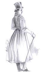 Obr 1: Kabát typu Redingot z počátku 19. století