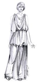 Obr 2: Ženský řecký oděv Peplos